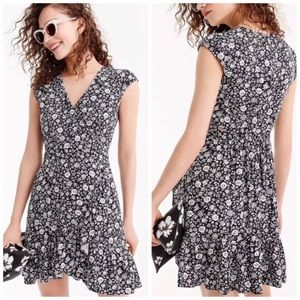 J. Crew Mercantile Faux-Wrap Mini Dress in Blossom